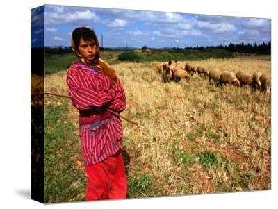 Shepherd Girl with Sheep, Amrit, Syria
