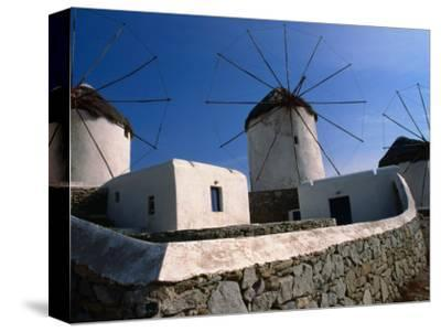 Thatched-Roof Windmills on Plateau, Mykonos Town, Greece