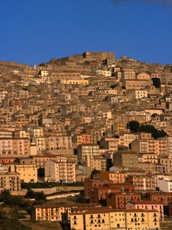 Townscape on Monte Marone, Gangi, Italy