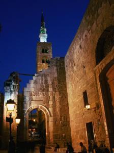 Umayyad Mosque at Night, Damascus, Syria by Wayne Walton