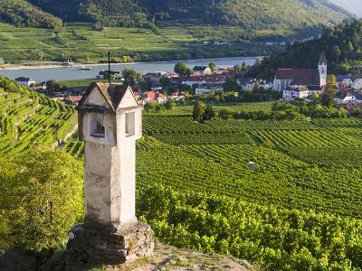 Wayside Shrine Near Old Town Gate Rote Tor in the Village Spitz, in the Vineyards of the Wachau-Martin Zwick-Photographic Print