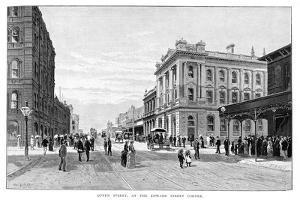 Queen Street, at the Edward Street Corner, Brisbane, 1860 by WC Fitler