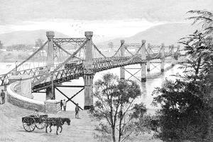 The Bridge, Rockhampton, Queensland, Australia, 1886 by WC Fitler