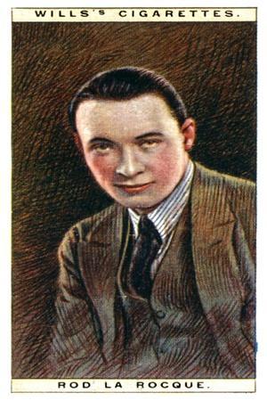 Rod La Rocque (1896-196), American Actor, 1928