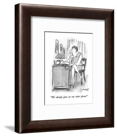 """We already gave on our other phone."" - New Yorker Cartoon-Frank Modell-Framed Premium Giclee Print"
