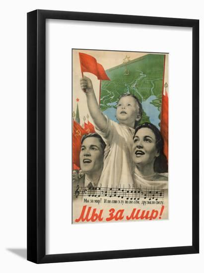 We are for Peace!, 1952-Viktor Borisovich Koretsky-Framed Giclee Print