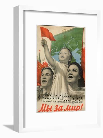 We are for Peace!, 1952-Viktor Borisovich Koretsky-Framed Giclee Print