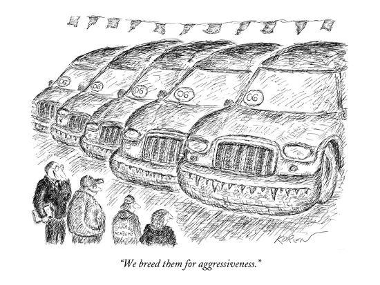 """We breed them for aggressiveness."" - New Yorker Cartoon-Edward Koren-Premium Giclee Print"