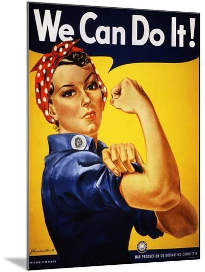 We Can Do It! (Rosie the Riveter)-J^ Howard Miller-Mounted Print
