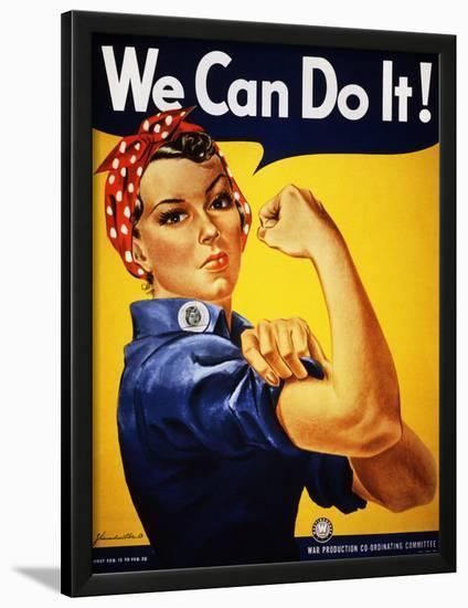 We Can Do It! (Rosie the Riveter)-J^ Howard Miller-Lamina Framed Art Print