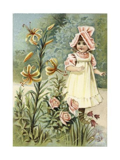 """""""We Can Talk,"""" Said the Tiger-Lily--Giclee Print"""