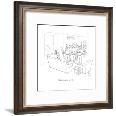 """""""We did everything we could."""" - New Yorker Cartoon-Paul Noth-Framed Premium Giclee Print"""