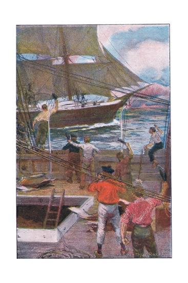 We Gave Three Long Loud Cheers-Arthur Rackham-Giclee Print