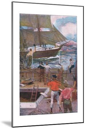 We Gave Three Long Loud Cheers-Arthur Rackham-Mounted Giclee Print