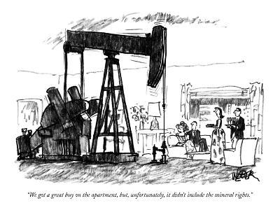 """""""We got a great buy on the apartment, but, unfortunately, it didn't includ?"""" - New Yorker Cartoon-Robert Weber-Premium Giclee Print"""