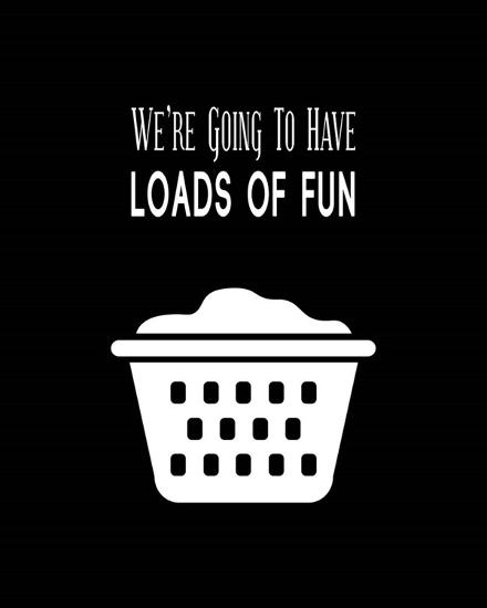 We're Going To Have Loads of Fun - Black-Color Me Happy-Art Print