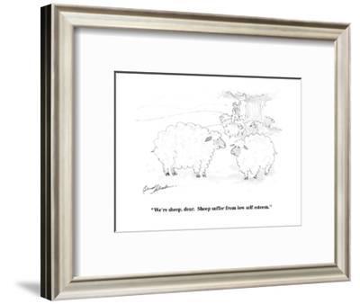 """""""We're sheep, dear.  Sheep suffer from low self esteem."""" - Cartoon-Bernard Schoenbaum-Framed Premium Giclee Print"""