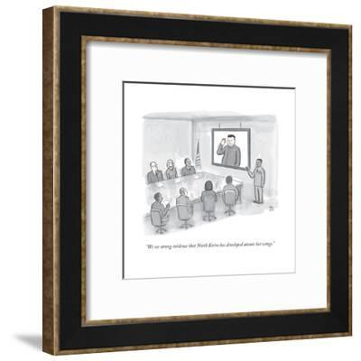 """""""We see strong evidence that North Korea has developed atomic hot wings."""" - New Yorker Cartoon-Paul Noth-Framed Premium Giclee Print"""