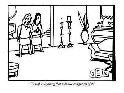 """""""We took everything that was nice and got rid of it."""" - New Yorker Cartoon-Bruce Eric Kaplan-Premium Giclee Print"""