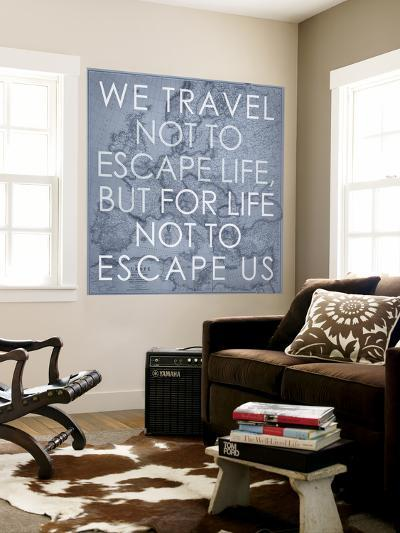 We Travel Not to Escape Life, but for Life not to Escape Us - 1915 Europe Map with Africa and Asia-National Geographic Maps-Wall Mural