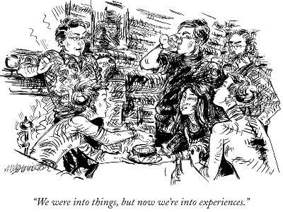 """""""We were into things, but now we're into experiences."""" - New Yorker Cartoon-William Hamilton-Premium Giclee Print"""