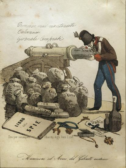 Weapons and Ammunitions of Austrian Ministry, Anti-Austrian Venetian Satire--Giclee Print