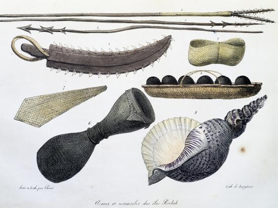 Weapons and Tools of Radak Islands, Marshall Islands-Louis Choris-Giclee Print