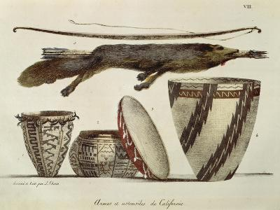 Weapons and Various Implements Used by the Indians in California, 1822--Giclee Print