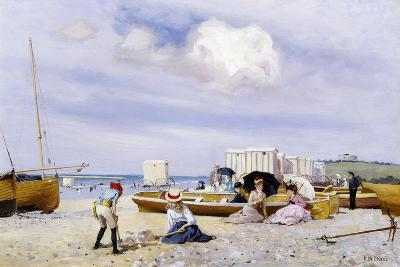 Wear Bay Beach, Folkestone-Frank M. Chase-Giclee Print