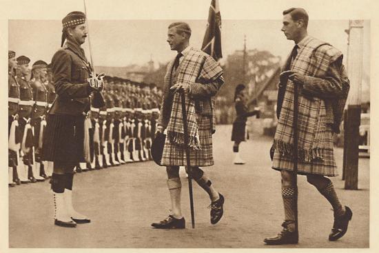 'Wearing the Balmoral Tartan', Balmoral, 1936 (1937)-Unknown-Photographic Print