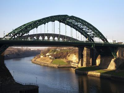 Wearmouth Bridge over the River Wear, Sunderland, Tyne and Wear, England, United Kingdom, Europe-Mark Sunderland-Photographic Print