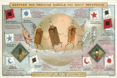 Weather and Medicine Signals for Daily Reference--Giclee Print