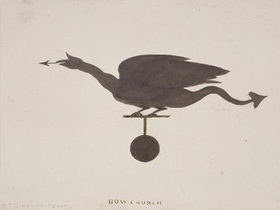 Weather Vane from St Mary-Le-Bow, London, C1850-JS Gardener-Giclee Print