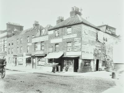 Weatherboard Houses and Shops on the Albert Embankment, Lambeth, London, 1900--Photographic Print