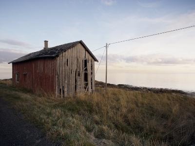 Weathered Barn on Coast, Lofoten Islands, Norway, Scandinavia, Europe-Purcell-Holmes-Photographic Print