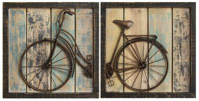 Weathered Bicycle Panel Pair