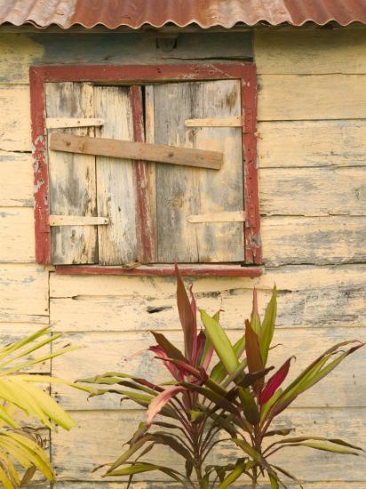 Weathered Cottage of Marie-Galante Island, Guadaloupe, Caribbean-Walter Bibikow-Photographic Print
