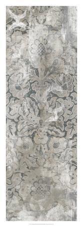 Weathered Damask Panel III-June Erica Vess-Framed Giclee Print