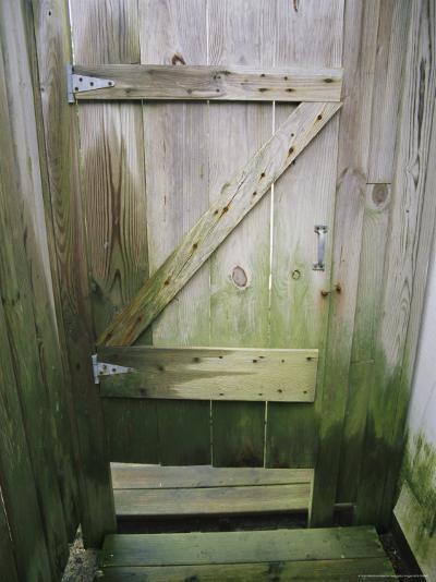 Weathered Door at a Seaside Cottage-Vlad Kharitonov-Photographic Print