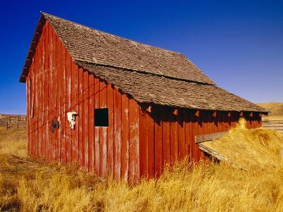 Weathered Old Barn on Ranch-Terry Eggers-Photographic Print