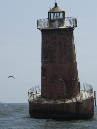 Weathered Sharps Island Light, in the Chesapeake Bay-Paul Sutherland-Photographic Print