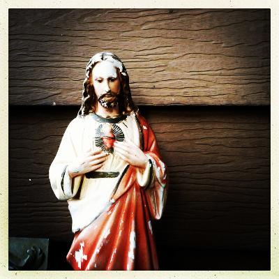 Weathered Statue of Jesus-pablo guzman-Photographic Print