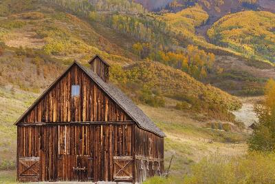 Weathered Wooden Barn Near Telluride in the Uncompahgre National Forest, Colorado, Usa-Chuck Haney-Photographic Print