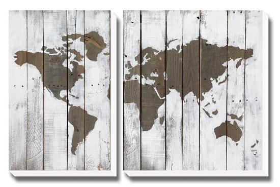 Weathered World-Charlotte Bassin-Canvas Art Set