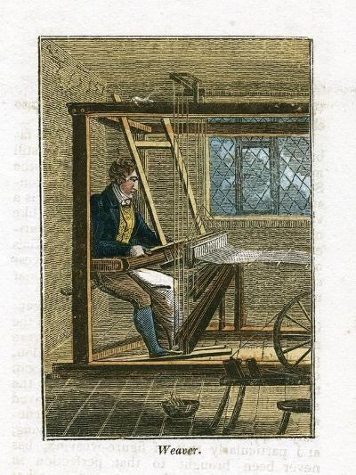 Weaver at His Loom, 1823--Giclee Print