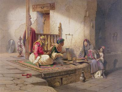 Weaver in Esna, One of 24 Illustrations Produced by G.W. Seitz, Printed c.1873-Carl Friedrich Heinrich Werner-Giclee Print