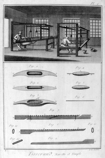Weavers, 1751-1777-Denis Diderot-Giclee Print