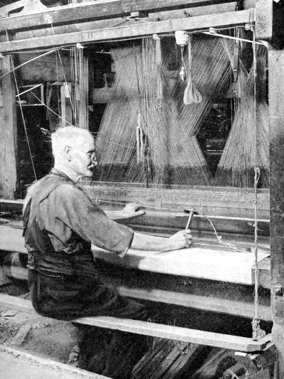 Weaving Irish Linen, Lurgan, Armagh, 1936--Giclee Print