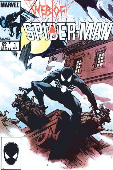 Web Of Spider-Man No.1 Cover: Spider-Man Crouching-Charles Vess-Art Print