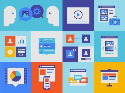 Web Presentation And Interface Icons-bloomua-Art Print